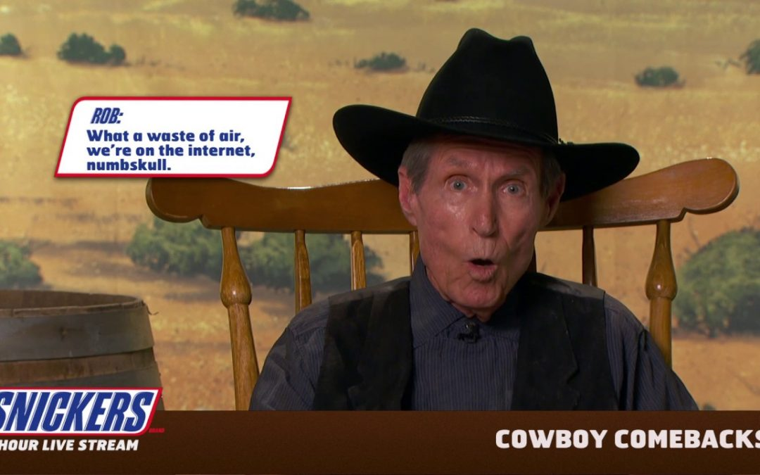 Peter Looney in Snickers Cowboy Comebacks